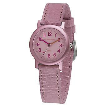 JACQUES FAREL Eco Dziecięcy zegarek na rękę Analog Kwarcowa Dziewczyna ORG 0635 Różowy