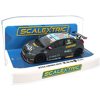 Scalextric C4015 Honda Civic Type R BTCC 2018 Chris Smiley Car