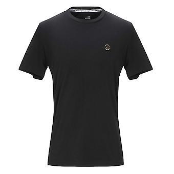 Liebe Moschino Frieden Plaque schwarz T-Shirt