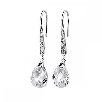 Elemente Silber klar Teardrop Ohrringe mit klaren CZ E3379CZ364