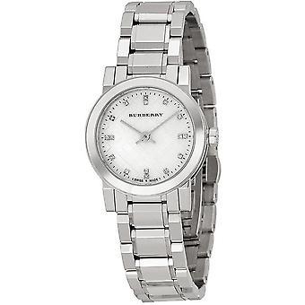 Burberry BU9224 אמא של יהלום אגס להגדיר נירוסטה נשים שעונים