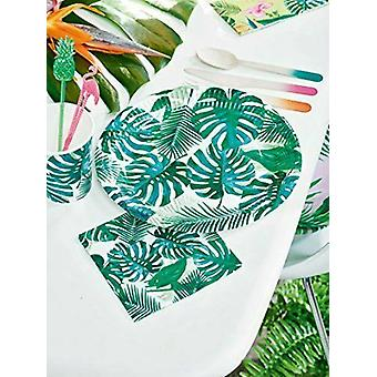 Tropical Fiesta Palm Leaf Paper Party Plates x 8 - Partyware