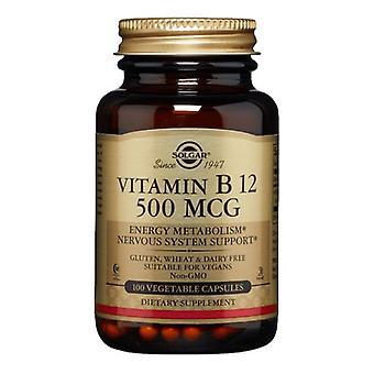 Solgar فيتامين B12، 500 ميكروغرام، 100 V قبعات