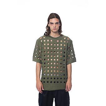 Nicolo Tonetto Army Green Perforated T-shirt