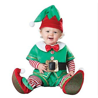 Santa Claus Elf Costume Performance Costume Baby One-piece Elk Snowman Model Costume