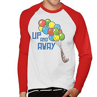Utelias George Up And Away Balloons Men's Baseball Pitkähihainen T-paita