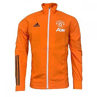 2020-2021 Man Utd Presentation Jacket (Orange)