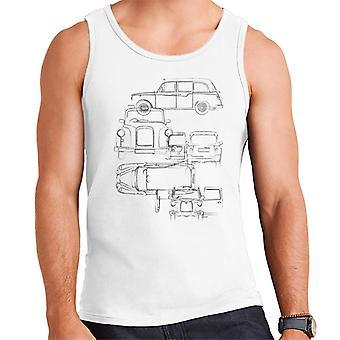 London Taxi Company Light Blueprint Men's Vest