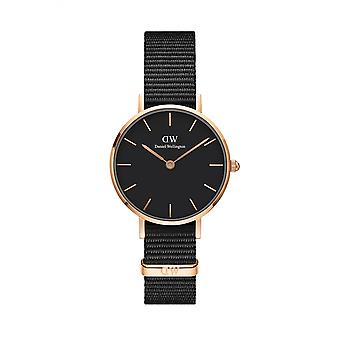 Daniel Wellington DW00100247 Classic Cornwall Petite Black Nato Strap Wristwatch