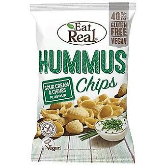 Mangez real sour cream & chive hummus chips 45g x12