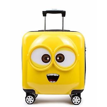 ילדים מיניון נסיעות מזוודה ספינר תא מתגלגל סט מטען