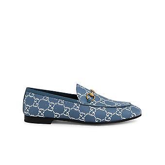 Gucci 4314672c8204691 Dames's Lichtblauwe wollen loafers