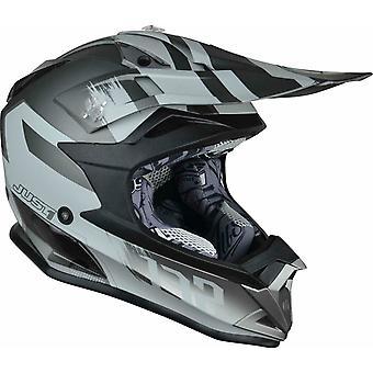 Just1 J32 Kick MX Helmet Titanium Grey Motocross ATV Off Road ACU Gold XS-XL
