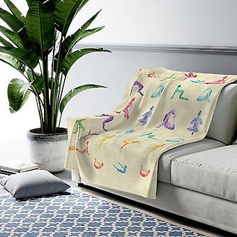 Yoga Sanctuary Velveteen Plush Blanket