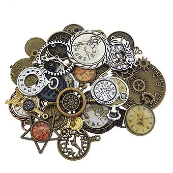 Watch Face Alloy Ketting Hanger Clock Charms