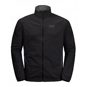 Jack Wolfskin Featherweight Windshell Jacket Black Windbreaker 1305861 6000
