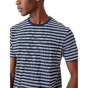 Goodthreads Men's Short-Sleeve Indigo Crewneck Pocket T-Shirt, Dark Wash, X-L...