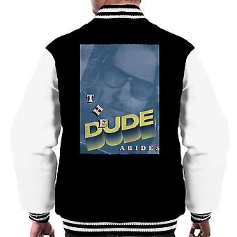Big Lebowski The Dude 3D Text Nostalgia Men's Varsity Takki
