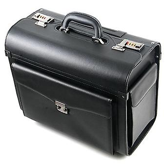Pu Leather Pilot Rolling Luggage Cabin Airline Stewardess Travel Bag On Wheel