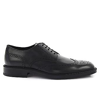 Derby Tod's Black With Holes Lace-up Shoe