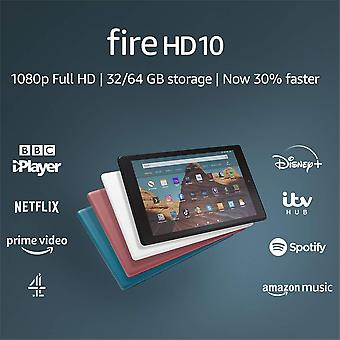 "Fire hd 10 tablet | 10.1"" 1080p full hd display, 64 gb, plum with special offers"