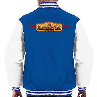 Ein amerikanischer Schwanz a Don Bluth Film Logo Men's Varsity Jacke