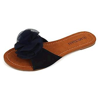 Mu Dan Women's Floral Flat Sandals