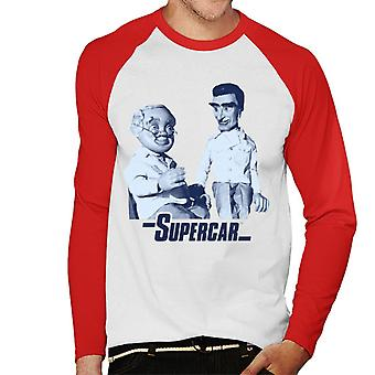 Supercar Mike And Professor Popkiss Men's Baseball Long Sleeved T-Shirt