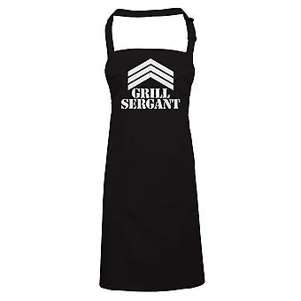 Grill Sergant Funny BBQ Apron - Gift for Dad Fathers Day Barbecue Grill Smoker