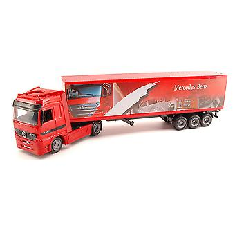 Mercedes Benz Actros with Box Trailer Plastic Model Lorry