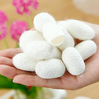 Organic Natural Silk Cocoons Silkworm Balls Facial Skin Care Exfoliating Scrub