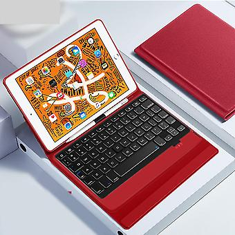 Tablet Keyboard Case, Bluetooth Wireless Keyboard Case Smart Pu Leather Full
