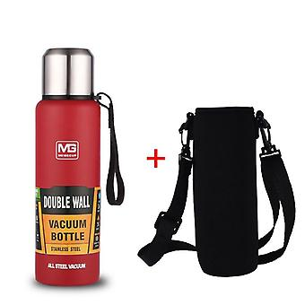 Large Capacity Thermos Portable Vacuum Flask Insulated Tumbler With Rope Thermo