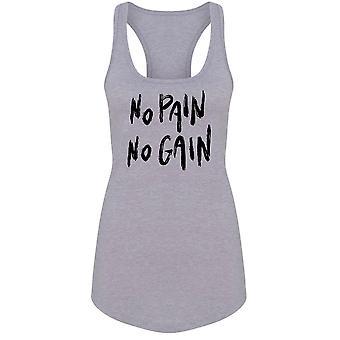 No Pain No Gain Fitness Slogan Tank Women's -Image by Shutterstock