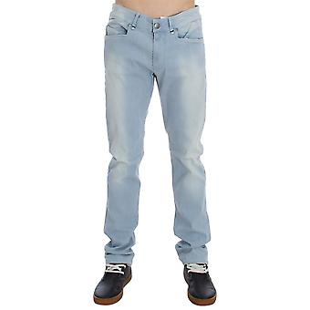Acht Blue Denim Cotton Stretch Slim Fit Jeans