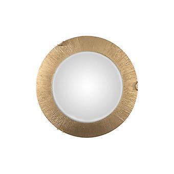 Plafón Luna Dorado, 2 Bombillas, Pantalla De Cristal
