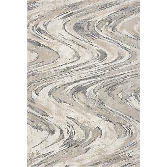 3' x 5' Alfombra natural de área de pinceladas onduladas