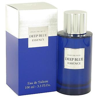 Deep Blue Essence Eau De Toilette Spray By Weil 3.3 oz Eau De Toilette Spray