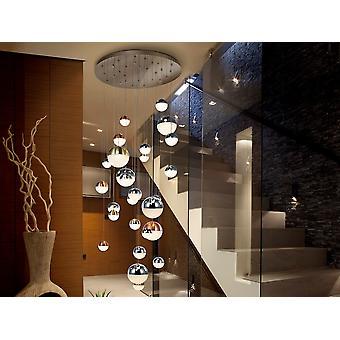 Schuller Sphere - Dimmable 27 luz integrada LED luz colgante luz luz lápiz luz caída, chrome cobre, latón satinado, control Bluetooth