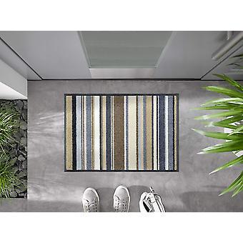 tvätt+torr dörrmatta Ränder natur 40 x 60 cm tvättbar dörrmatta