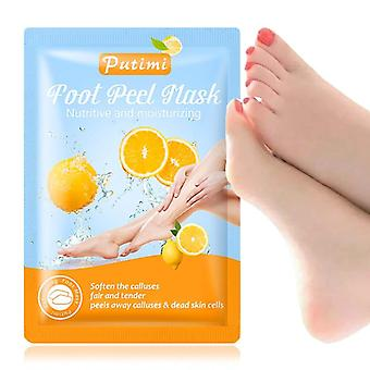 6packs Exfoliating Foot Mask Scrub Foot Care Feet Patches Socks