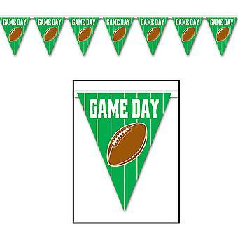 Game Day Football Pennant Banner (confezione da 12)