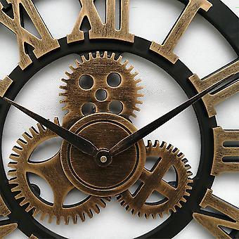 Industrial Gear Wall Clock Decorative Retro MDL Wall Clock Industrial Age Style Room Decoration Wall Art Decor