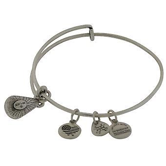 Alex and Ani May Drop Charm Bangle Bracelet - Rafaelian Silver - A17EB44RS