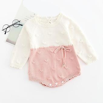 Autumn Baby Clothes, Long Sleeve Knit Sweater+shorts Sets
