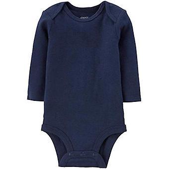 Simple Joys by Carter's Boys' 5-Pack Long-Sleeve Bodysuit, Solids, Newborn