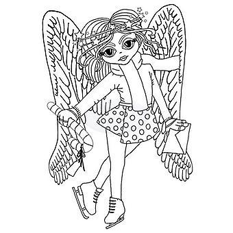 Polkadoodles Clear Stamp - Angel Skater A6