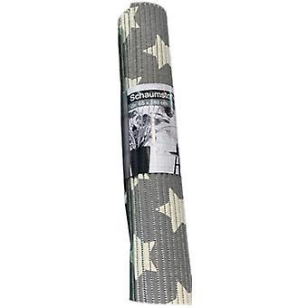 badematte Sterren Anti-Rutsch 65 x 180 cm Schaumstoff grau