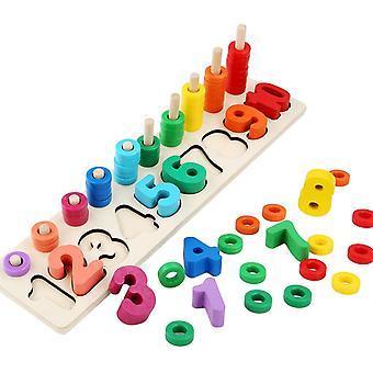 Hlzern Anzahl Frh Bildung Zahlen Kinder Montessori Mathe Lernen Spielzeug ber 3 Jahre al