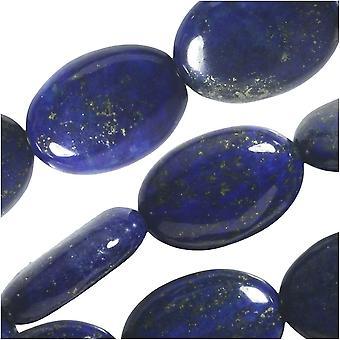 Dakota Stones Gemstone Beads, Lapis Lazuli, Oval 10x14mm, 8 Inch Strand